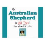 My Australian Shepherd is All That! Postcard