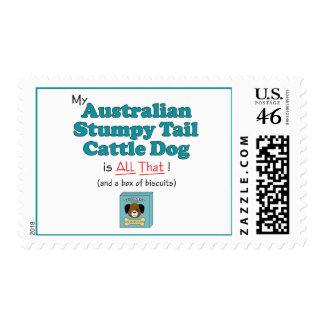 My Australian Stumpy Tail Cattle Dog is All That! Postage Stamps