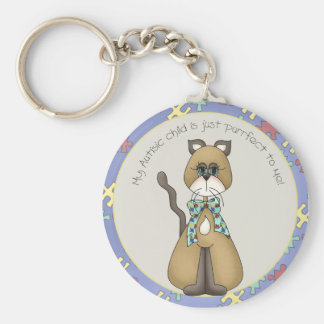 My Autistic Child is Just Purrfect to Me Keychain