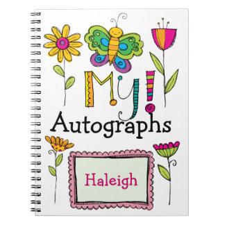 My Autograph Book - SRF Notebook