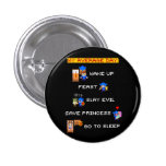 My Average Day (8-bit RPG) 1 Inch Round Button