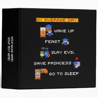 My Average Day (8-bit RPG) 3 Ring Binders