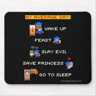 My Average Day (8-bit RPG) Mouse Pad