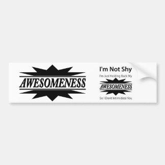 My Awesomeness! Bumper Sticker