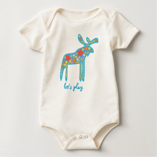 My baby: a colorful galactic moose, let's play bodysuit