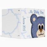 My Baby Boy Teddy Bear Album 3 Ring Binder