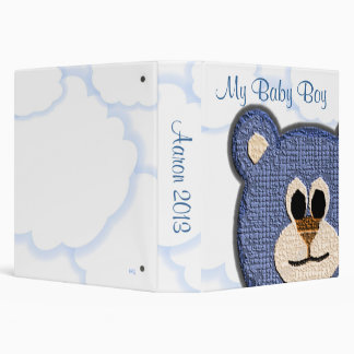 My Baby Boy Teddy Bear Album 3 Ring Binder