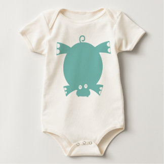 My baby: Cute Hippo. Baby Bodysuit