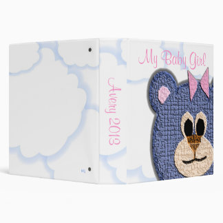My Baby Girl Teddy Bear Album Binder