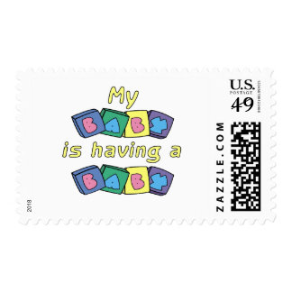 My Baby Is Having A Baby Postage Stamp
