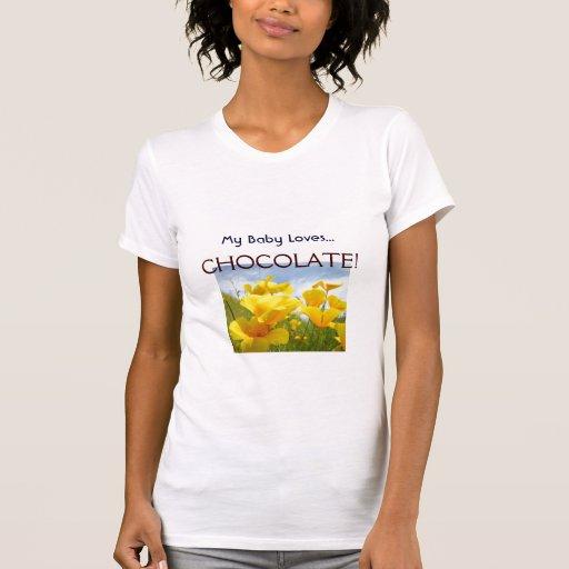 My Baby Loves Chocolate! T-shirt custom Mom Moms
