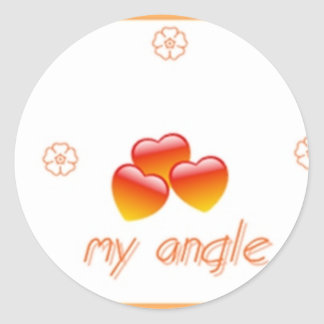 my baby my angle classic round sticker