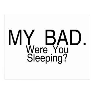 My Baby Were You Sleeping Postcard