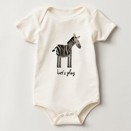 My baby: Zebras :: Let's play Baby Bodysuit