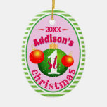 My Baby's (Name)1st First Christmas Ceramic Ornament