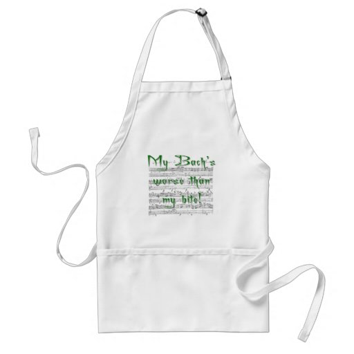 My Bach's worse than my bite! Adult Apron