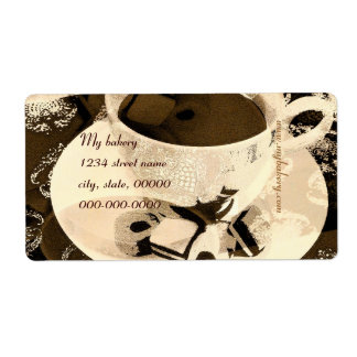 My bakery hot chocolate and sweets bakery label shipping label