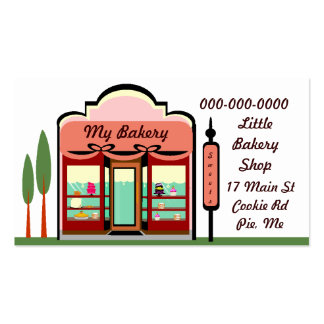 MY BAKERY SHOP Double-Sided STANDARD BUSINESS CARDS (Pack OF 100)