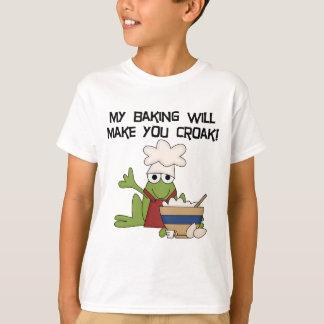 My Baking Will Make You Croak Frog Baker Chef T-Shirt