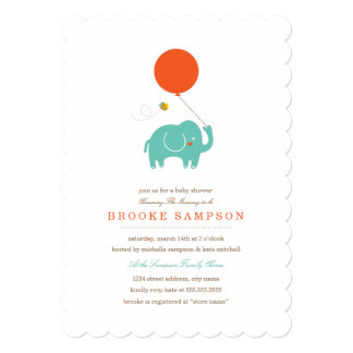 My Balloon | Baby Shower 5x7 Paper Invitation Card
