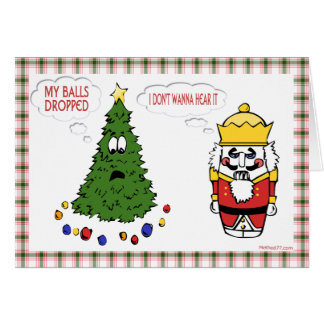 My Balls Dropped Christmas Card
