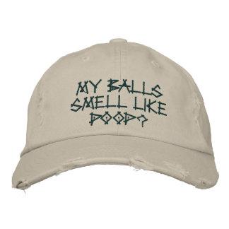 My balls smell like poop? baseball cap