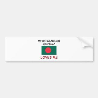 My Bangladeshi Grandma Loves Me Car Bumper Sticker