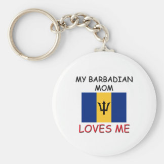 My Barbadian Mom Loves Me Keychain