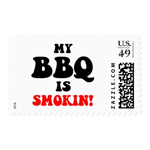 My barbecue is smokin! postage stamps