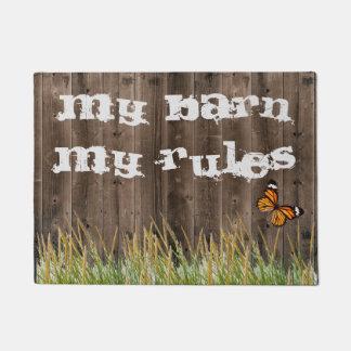 My Barn My Rules Doormat