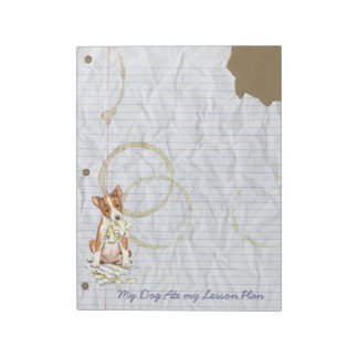 My Basenji Ate My Lesson Plan Notepad
