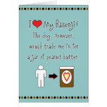 My Basenji Loves Peanut Butter Greeting Card