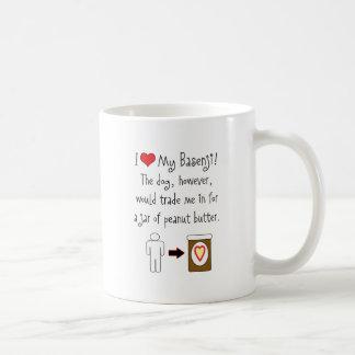 My Basenji Loves Peanut Butter Classic White Coffee Mug