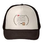 My Basenji Loves Peanut Butter Trucker Hat