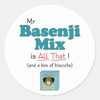 My Basenji Mix is All That! Classic Round Sticker