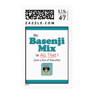 My Basenji Mix is All That! Postage