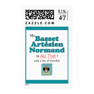 My Basset Artesien Normand is All That! Postage