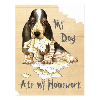 My Basset Ate My Homework Postcard