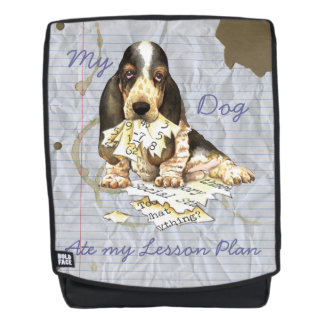 My Basset Ate my Lesson Plan Backpack