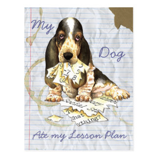My Basset Ate My Lesson Plan Postcard