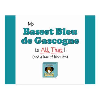 My Basset Bleu de Gascogne is All That! Post Cards