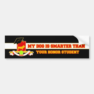 My Basset Is Smarter Bumper Sticker