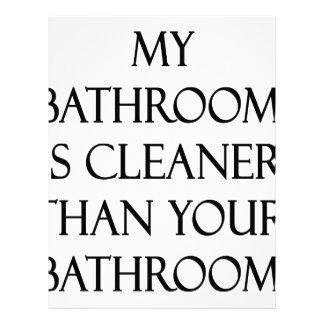 My Bathroom Is Cleaner Than Your Bathroom Letterhead