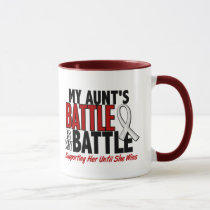 My Battle Too 1 Aunt BONE / LUNG CANCER Mug