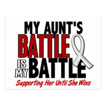 My Battle Too 1 Aunt BONE / LUNG CANCER Postcard