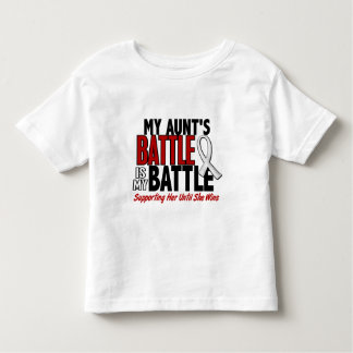 My Battle Too 1 Aunt BONE / LUNG CANCER Toddler T-shirt