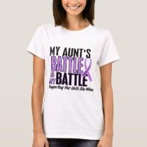 My Battle Too 1 Aunt Hodgkin's Lymphoma T-Shirt
