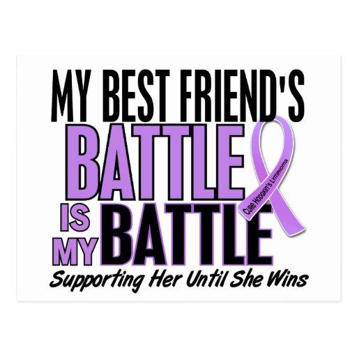 My Battle Too 1 Best Friend Her Hodgkin's Lymphoma Postcard