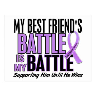 My Battle Too 1 Best Friend Hodgkin's Lymphoma Postcard