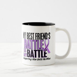My Battle Too 1 Best Friend Hodgkin's Lymphoma Two-Tone Coffee Mug